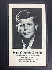 Vintage President John F Kennedy JFK Funeral Catholic Mass Prayer Card