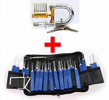 32PCS Lock Training Kit Practice Padlock Lockout Train Set Locksmith Pick Tool