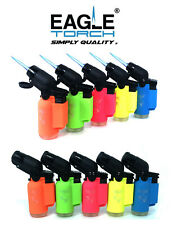 10 Pack Eagle Torch Neon Color 45 Degree Angle Jet Flame Lighter
