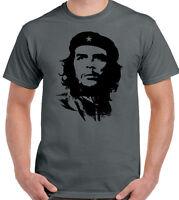 Che Guevara Face Silhouette - Mens Iconic T-Shirt Revolution Cuba