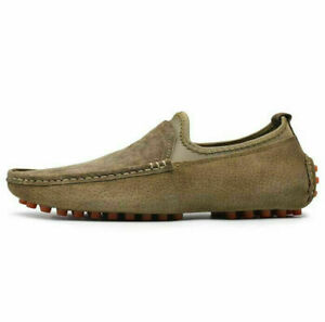 Men's Casual Soft Loafers Slip On Flats Suede Driving Flat Comfort Outdoor Shoes