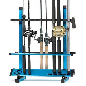 [SAVIOR] 24-36 Fishing Rod Rack Floor Stand Garage Pole Holder Display Organizer