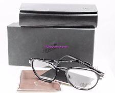 PERSOL PO 3053V 95 Shiny Black Round Full Frame 52mm RX Eyeglasses NWT AUTH