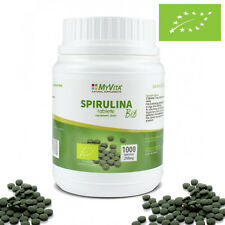 100% Superfood Organic BIO Certified Green Spirulina 1000 Tablets !
