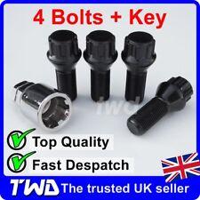 BLACK ALLOY WHEEL LOCKING BOLTS FOR BMW 5-SERIES (2010+) F10 F11 LUG NUTS [SBXb]
