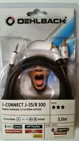 Oehlbach, mobiles Audiokabel, 3,5 mm Klinke auf Cinch, I-Connect J-35/R 300