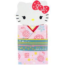 Hello Kitty TENUGUI (Japanese Hand Towel) KIMONO PINK Cotton 100% NEW Cute F/S