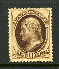 US Scott 150 10c Brown Jefferson Bank Note MOGH cv $2150.00 8D28 58