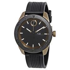 New Movado Bold Black Dial Rubber Men's Watch 3600452