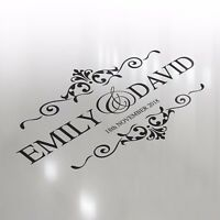 Premium Luxury Wedding Logo Dance Floor Event Custom Decor Sticker Vinyl Decal