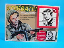COMBAT! TV SERIES * Sgt SAUNDERS * VIC MORROW SLIDE PUZZLE GAME CARDED ARGENTINA