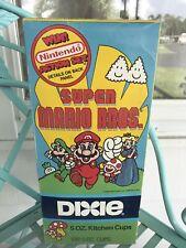 Super Mario Bros. UNOPENED Dixie Cups 1989 Vintage Video NOS RARE