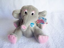 Planet Hollywood Popcorn Elephant Toy Plush Stuffed Animal with Ear Tag