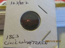 1863 Civil War Token Indian Head With Cross Cannons