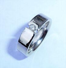 Designer Furrer Jacot 18ct White Gold Diamond Wedding Band Ring, Size K 1/2
