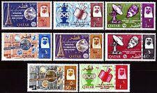 Qatar 1966 ** mi.195/02 a partir de Space espacio, New currency reprochó en Red/Black