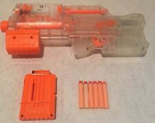 NERF DEPLOY CS-6 Dart Blaster CLEAR With 6 Darts