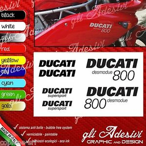 Series Adhesives Stickers Compatible DUCATI 800 Super Sport Desmodue