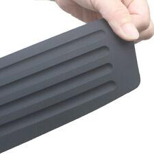 90x8cm Black Rear Guard Bumper Trunk Sill Plate Rubber PAD Protector Trim Cover