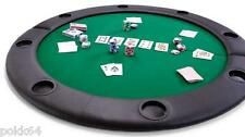 Plateau de POKER BLACKJACK table top cuir 8 personnes 120 cm + housse rangement
