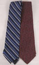 FACCONABLE Silk Ties Neckties Lot of 2. PAISLEY & Stripe Design.