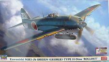 HASEGAWA 07449 KAWANISHI NIKI-Jb SHIDEN (GEORGE) TYPE II Otsu *ROLLOUT* 1:48 NEU