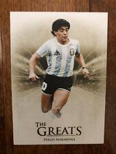 2018 Futera Unique GREATS Football Soccer Card Argentina MARADONA Mint