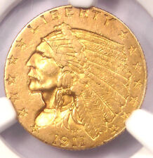 1911-D Indian Gold Quarter Eagle $2.50 Coin (Weak D) - NGC AU55 - $2,850 Value!