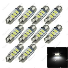 10X White Festoon 36MM 3 SMD 5630 LED Reading Light Canbus Error Free Car ZI123