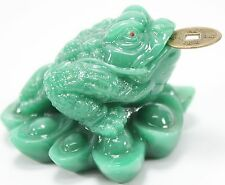 Green Fortune Toad Money Frog Lucky Feng Shui Decoration Coin Collector Gift