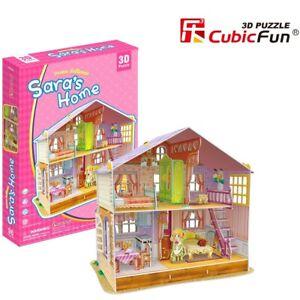 Girls Dollhouse Saras Home 3D Model DIY Puzzle Hobby Building Kit Build Toy Kids