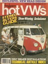 DUNE BUGGIES & HOT VW'S 1986 NOV - '58 AMBULANCE, NEW HEAD DESIGN, FLAT HOOD