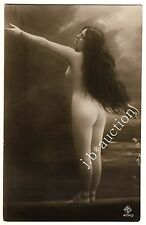 Nude WOMAN extremely long hair/Taglia Grande Pelo lungo Donna Nude * VINTAGE 20s Photo PC