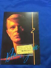 David Bowie Japan  tour book & ticket stub 1978 Tokyo Budokan Zzigy star dust