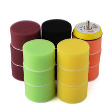 "16pcs 2"" Sponge Flat Polishing Buff Pad Kit Tool For Air Sander Car Polisher"