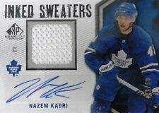 10-11 ud sp inked sweaters nazem kadri maple leafs jersey autograph auto 22/50