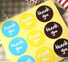 24X THANK YOU WEDDING BIRTHDAY INVITATION CARD SEAL FAVOUR KRAFT LABEL STICKER