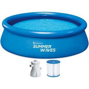 Summer Waves TW34-P1001030A0EU Ensemble de piscine Quick Up 305 x 76 cm avec pom
