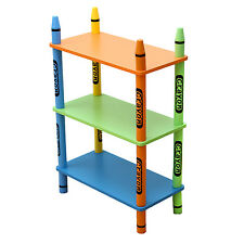 Bebe Style Childrens Crayon Wooden Shelves, Bookcase  -Kids Toddlers Childs-NEW