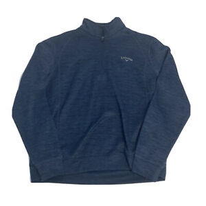 Men's Callaway 1/4 Zip Golf Pullover Jacket Men's Size Medium Blue EUC