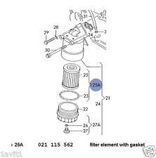 NEW GENUINE VW GOLF PASSAT VENTO SHARAN CORRADO VR6 OIL FILTER 021115562