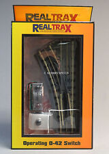 MTH REALTRAX OPERATING 042 LEFT HAND SWITCH O GAUGE train accessory 40-1044 NEW