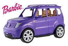 Stylish Barbie Doll 4 Seater JEEP SUV CAR Sparkly Purple Girls Playset Kids Toy!