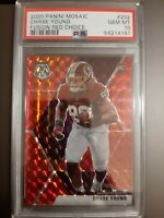 2020 Panini Mosaic Chase Young #202 Fusion Red Choice #d 46/80 PSA 10 - POP 1