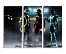 130x90cm - Disney Tron Legacy Wandbild auf Leinwand Keilrahmen