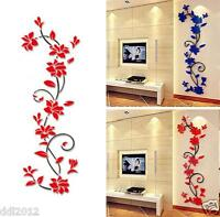 DIY 3D Flower Acrylic Wall Stickers Living Room Bedroom TV Background Home Decor