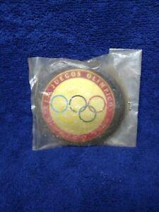 Vtg Rare Olympic Games 1968 Mexico, Car Emblem, Factory Sealed Made at Mexico