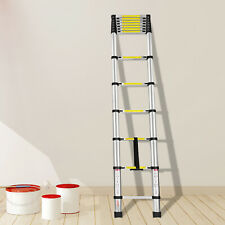 12.5ft Portable Aluminum Telescoping Extension Ladder Retractable
