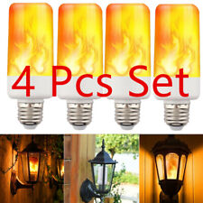 4-PACK LED Flame Effect Fire Light Bulb E27 Flickering Lamp Simulated Decorative
