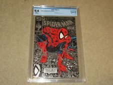 Spider-Man #1 Silver Blue Lizard Variant CBCS 9.4 Marvel 1990 White Pages